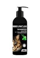 Шампунь UNICUM premium для котов с алое вера, 200 мл