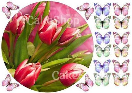 Вафельна картинка Тюльпани 1