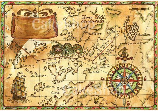 Вафельна картинка Карта