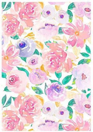 Вафельна картинка Квітковий принт 1