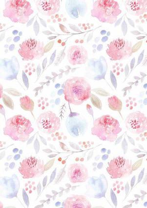Вафельна картинка Квітковий принт 6