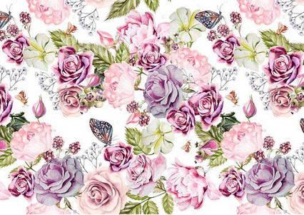 Вафельна картинка Квітковий принт 9
