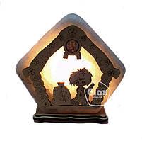 Соляная лампа светильник Домик большой домовой