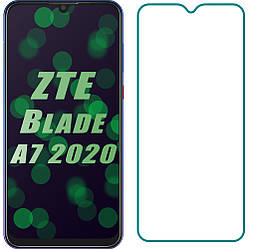 Защитное стекло ZTE Blade A7 2020 / A7 Prime (Прозрачное 2.5 D 9H) (ЗТЕ Блейд А7 2020)