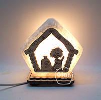 Соляная лампа светильник Домик маленький 3