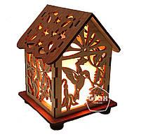Соляная лампа светильник Домик Куб Колибри