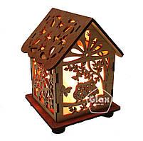 Соляная лампа светильник Домик Куб Совы