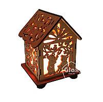 Соляная лампа светильник Домик Куб Мишки