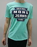 Мужская футболка Mons Jeans голубая, мята, серая, горчица, белая, фото 2