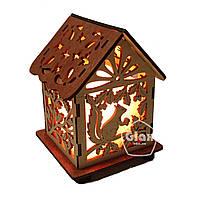 Соляная лампа светильник Домик Куб Белка