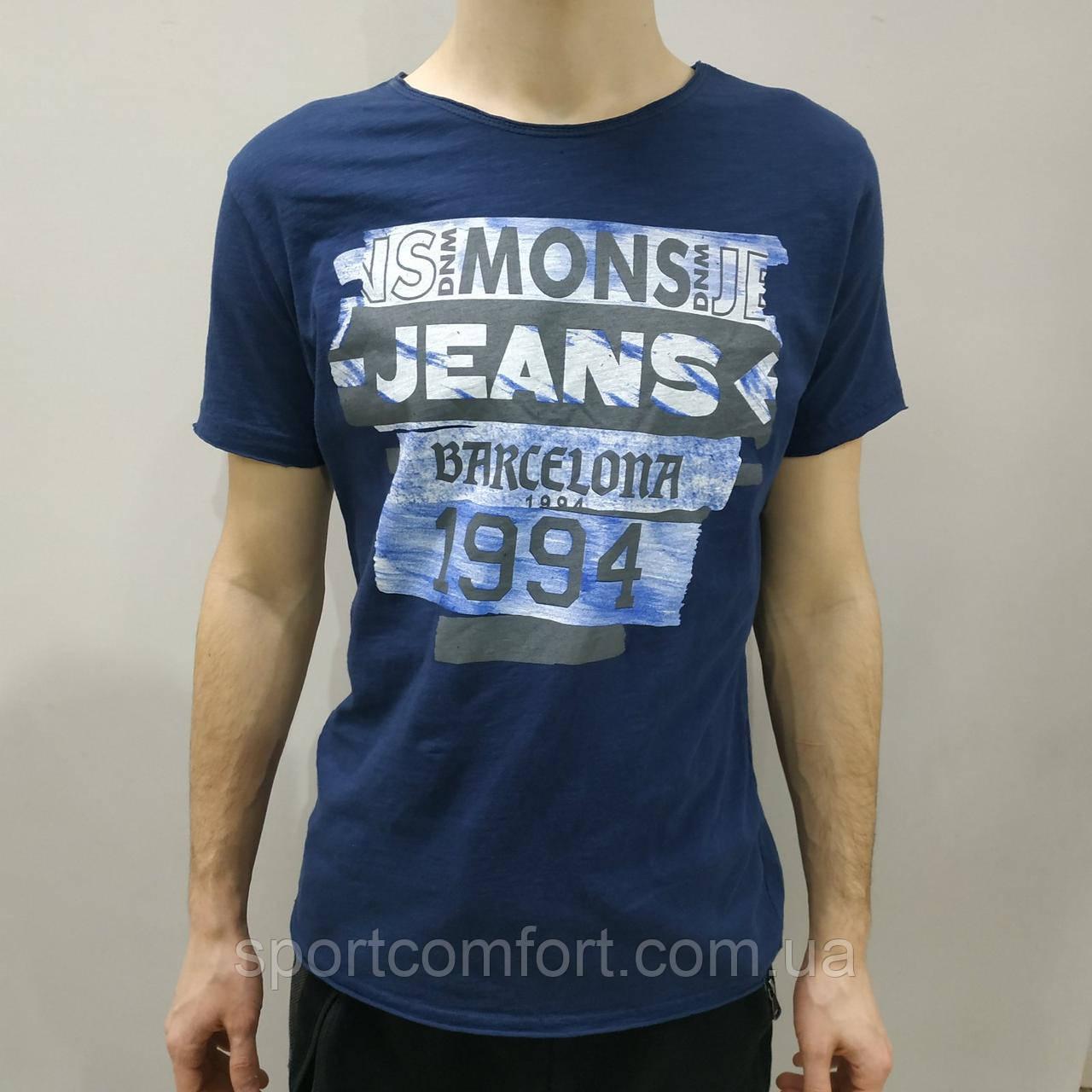 Футболка Mons Jeans синяя