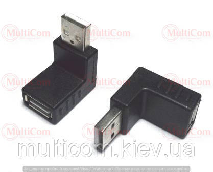 01-08-207. Переходник штекер USB тип A - гнездо USB тип А, угловой