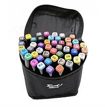 Набір двосторонніх маркерів Touch Art для малювання і скетчинга на спиртовій основі 48 штук, фото 3