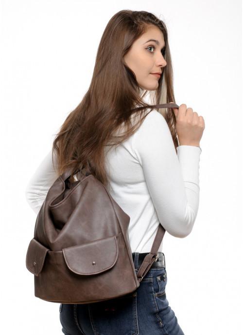 Купить женский рюкзак Sambag Asti XKH светло-коричневый нубук