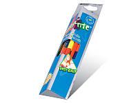 Цветные карандаши marco 24 цвета Grip-rite двухсторонние, акварельные с кисточкой