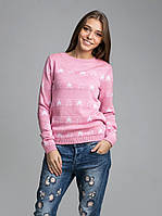 Милый молодежный джемпер  розового цвета, фото 1