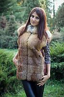 Женская жилетка из натурального меха лисицы