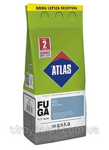 Затирка фуга 201 Теплый белый ATLAS WASKA FUGA 2кг для швов плитки 1-7мм