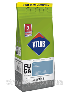 Затирка фуга 124 Темний венге ATLAS WASKA FUGA 2кг для швів плитки 1-7мм
