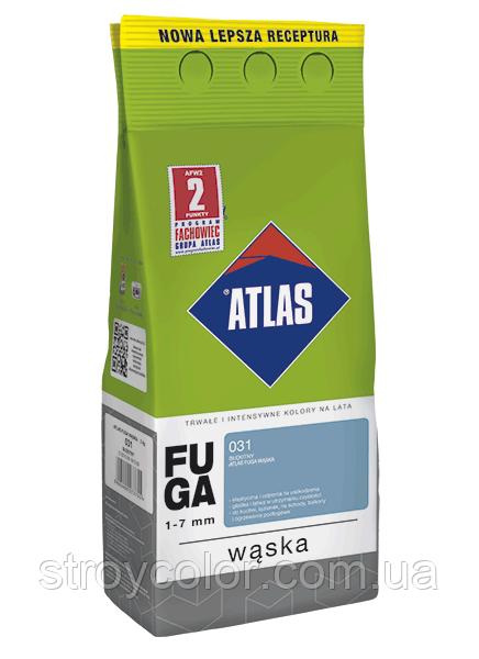 Затирка фуга 022 Горіховий ATLAS WASKA FUGA 2кг для швів плитки 1-7мм