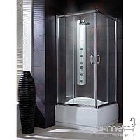 Душевые кабины, двери и шторки для ванн Radaway Душевая кабина с высоким поддоном Radaway Premium Plus C 90x90 30451-01-08N (хром/коричневое)