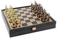 Шахматы Manopoulos в футляре дорожные 34 см