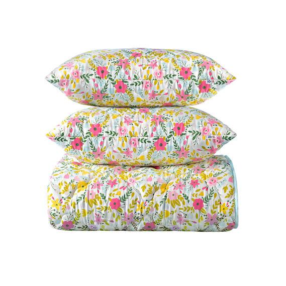 Набор: одеяло холлофайбер всесезонное 200х220 + 2 подушки 50х70 Country Home IDEIA
