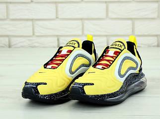 Чоловічі жовті Кросівки Nike Air Max 720