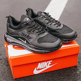 Чоловічі чорні Кросівки Nike Air Max 720 (репліка)