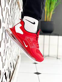 Чоловічі червоні Кросівки Nike Air Max 720