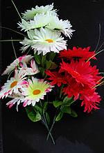 Искусственные цветы Ромашек букет 3 цвета