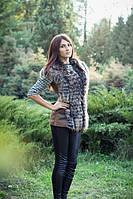 Модный женский жилет из натурального меха енота