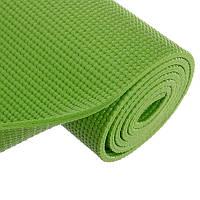 Коврик для фитнеса и йоги PVC. Цвет: зеленый. 6мм Zelart FI-2349