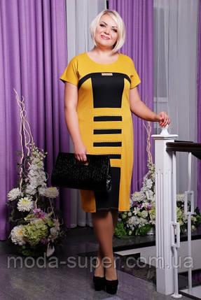 Платье женское прямого ситуэта с коротким рукавом  рр 50-58, фото 2