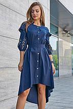 Жіноче плаття з рюшами і з вишивкою, фото 3