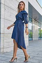 Жіноче плаття з рюшами і з вишивкою, фото 2