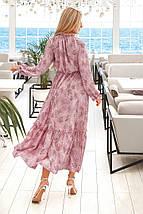 Нежное платье с манжетами на рукавах и горловине рр 42-48, фото 2