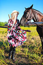 Плаття на запахиз тканини костюмка рр 42-56, фото 3