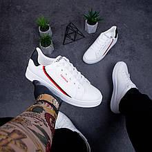 🔥🔥🔥 Кроссовки мужские кеды спортивные повседневные белые кожаные