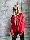 Демисезонная куртка кожанка короткая с отложным воротником и накладными карманами (р. 42-46) 72kr594, фото 3