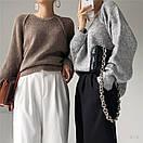 Женский свитер вязаный кроя оверсайз с рукавом регланом (р. 42-46) 77sv1112, фото 2