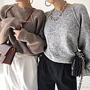 Женский свитер вязаный кроя оверсайз с рукавом регланом (р. 42-46) 77sv1112, фото 4