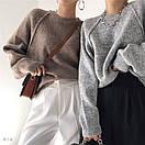 Женский свитер вязаный кроя оверсайз с рукавом регланом (р. 42-46) 77sv1112, фото 5