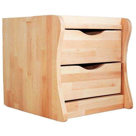 Тумба мобільна в дитячу на 2 ящики дерев'яні з бука ТМ Mobler
