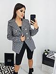 Модный пиджак женский в гусиную лапку, фото 3