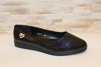 Балетки туфлі жіночі чорні Т1249