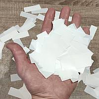 Конфетти-Метафан белое премиум 2х6 см