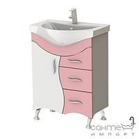 Мебель для ванных комнат и зеркала Ювента Тумба с умывальником Ювента Бриз Б2-65 F, фасад белый