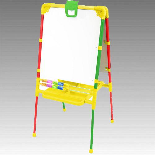 Мольберт для дитячої творчості з магнітною дошкою та регульованою висотою