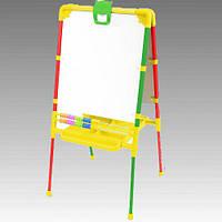 Мольберт для детского творчества с магнитной доской и регулируемой высотой
